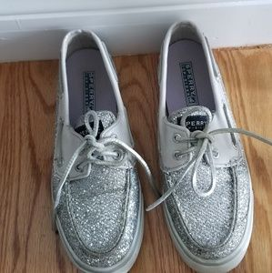 Womens size 6.5 sparkly Sperry Top-sider shoes